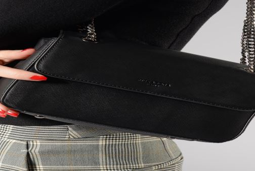 Sacs à main Hexagona SYNSA Chaine Noir vue bas / vue portée sac