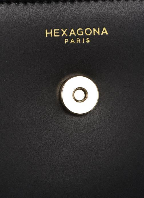 Handväskor Hexagona ICONE CUIR CROSSBODY Svart bild från vänster sidan