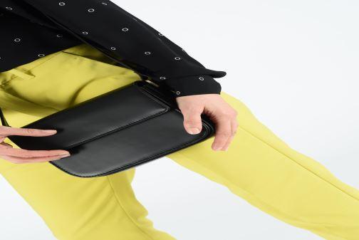 Sacs à main Hexagona ICONE CUIR CROSSBODY Noir vue bas / vue portée sac