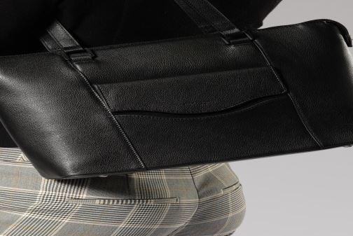 Sacs à main Hexagona RIVAGE  CUIR CABAS Noir vue bas / vue portée sac