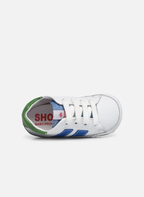 Deportivas Shoesme Saverio Blanco vista lateral izquierda