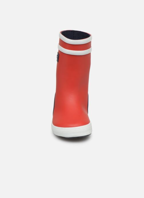 Bottes Aigle Baby Flac Color Block Rouge vue portées chaussures