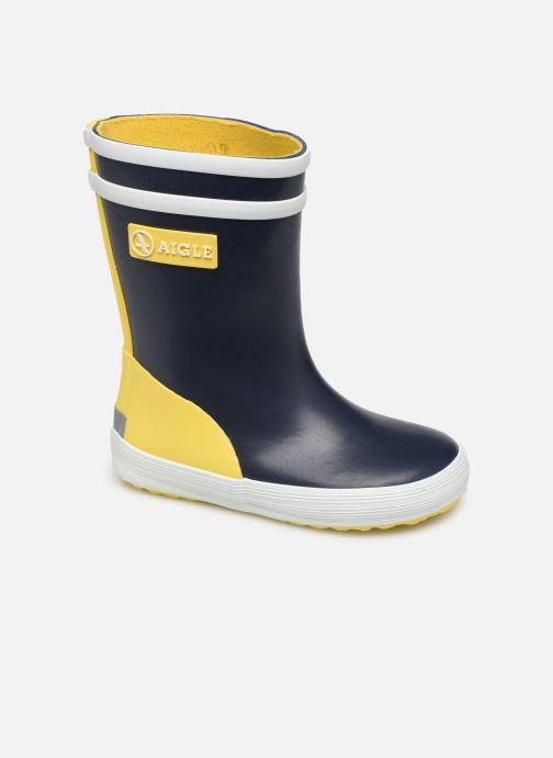 Støvler & gummistøvler Aigle Baby Flac Color Block Blå detaljeret billede af skoene