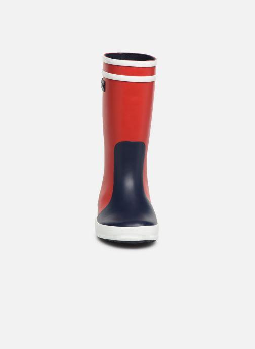 Bottes Aigle Lolly Pop Color Block Rouge vue portées chaussures