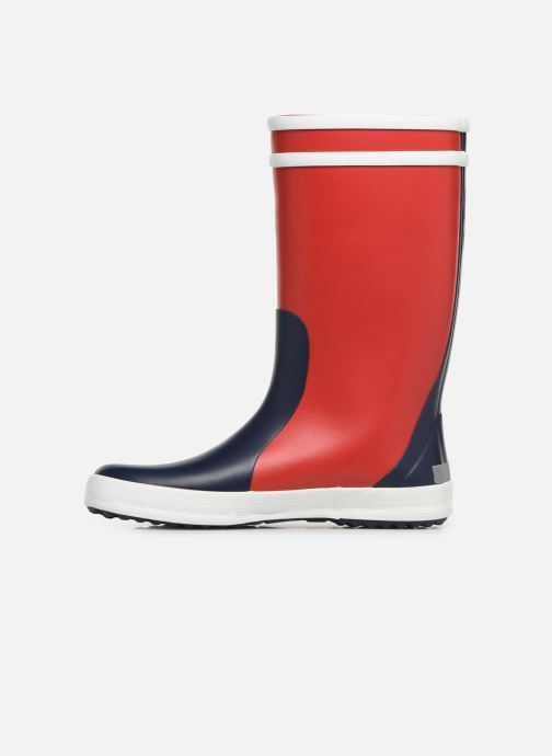 Støvler & gummistøvler Aigle Lolly Pop Color Block Rød se forfra