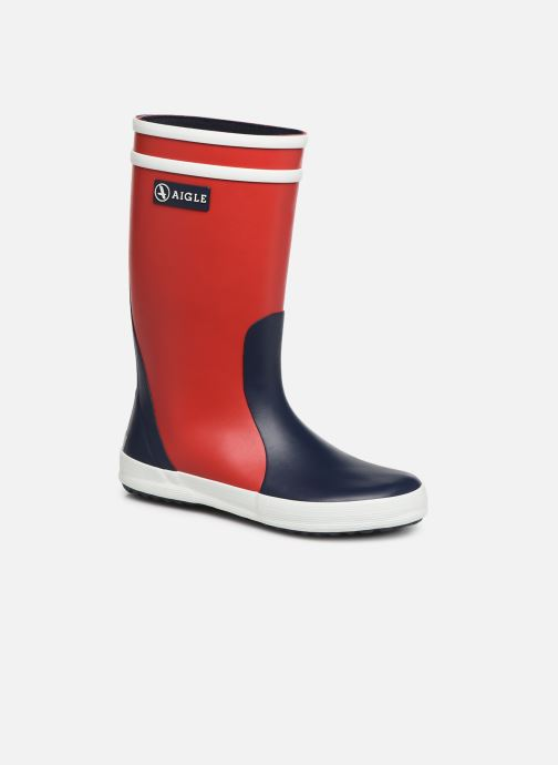 Bottes Aigle Lolly Pop Color Block Rouge vue détail/paire