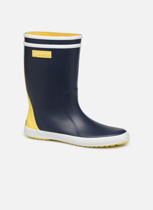 Støvler & gummistøvler Aigle Lolly Pop Color Block Blå detaljeret billede af skoene
