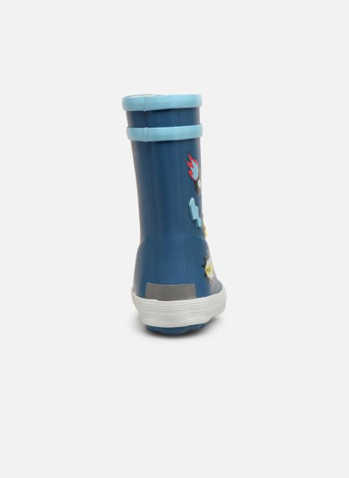 Boots & wellies Aigle Baby Flac Fun Blue view from the right