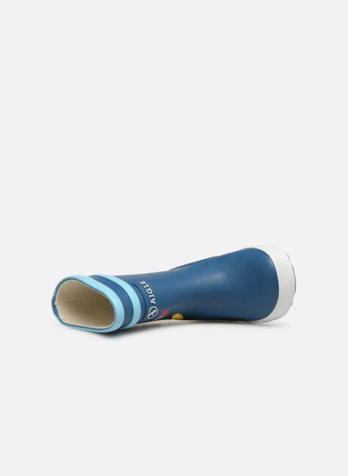 Stivali Aigle Baby Flac Fun Azzurro immagine sinistra