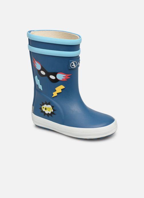 Støvler & gummistøvler Aigle Baby Flac Fun Blå detaljeret billede af skoene