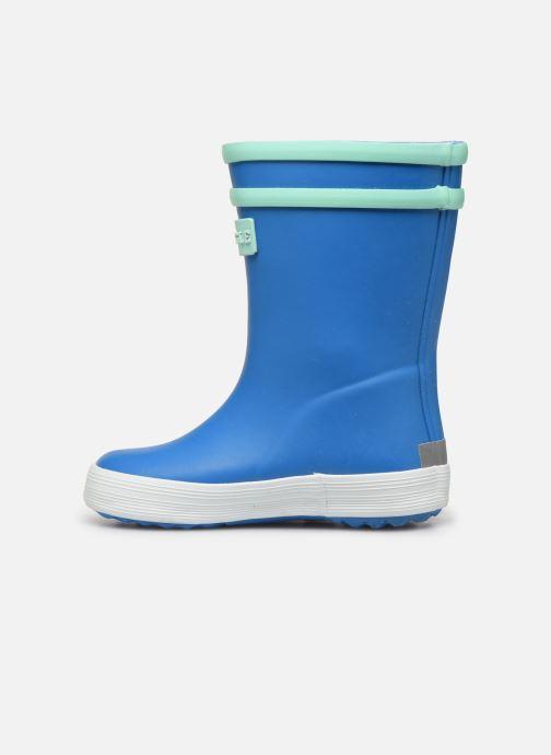 Stiefel Aigle Baby Flac Fun blau ansicht von vorne