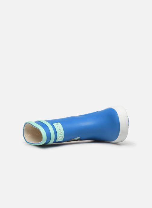 Stiefel Aigle Baby Flac Fun blau ansicht von links
