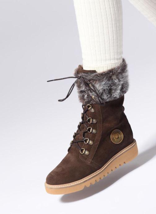 Bottines et boots Pataugas Myna Marron vue bas / vue portée sac