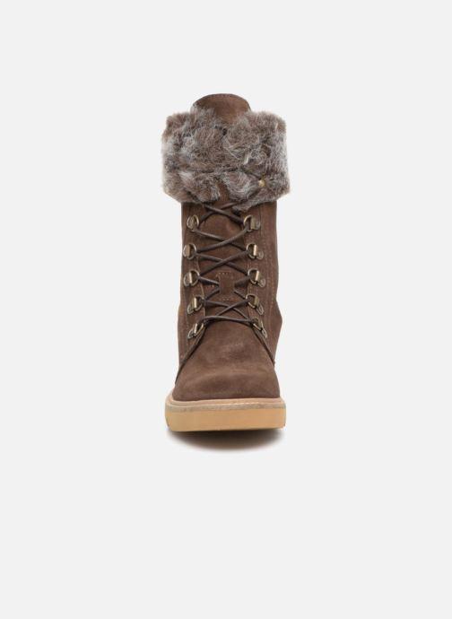 Bottines et boots Pataugas Myna Marron vue portées chaussures