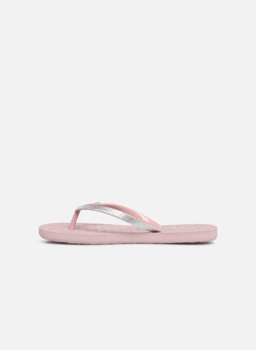 Slippers Roxy Rd Viva Glitter II Roze voorkant