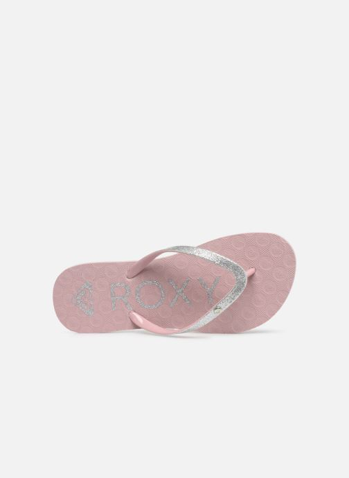 Zehensandalen Roxy Rd Viva Glitter II rosa ansicht von links