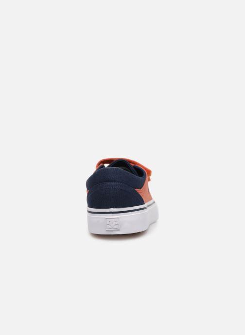 Deportivas DC Shoes Trase V Kids Azul vista lateral derecha