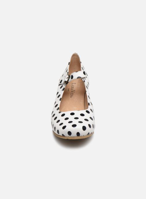 Escarpins Laura Vita Candice 0281 Blanc vue portées chaussures