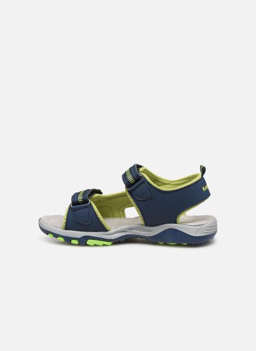 Sandales et nu-pieds Kangaroos K-Logan Bleu vue face