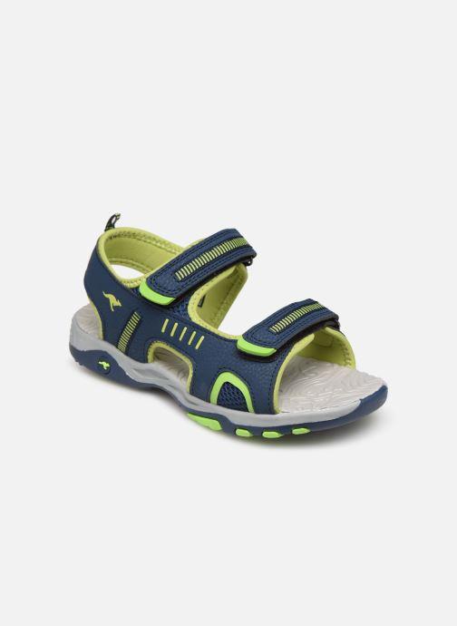 Sandales et nu-pieds Kangaroos K-Logan Bleu vue détail/paire