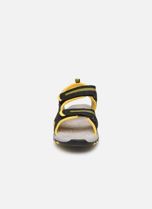 Sandales et nu-pieds Kangaroos K-Logan Noir vue portées chaussures
