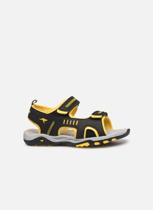 Sandales et nu-pieds Kangaroos K-Logan Noir vue derrière