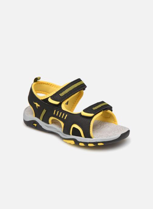 Sandales et nu-pieds Kangaroos K-Logan Noir vue détail/paire