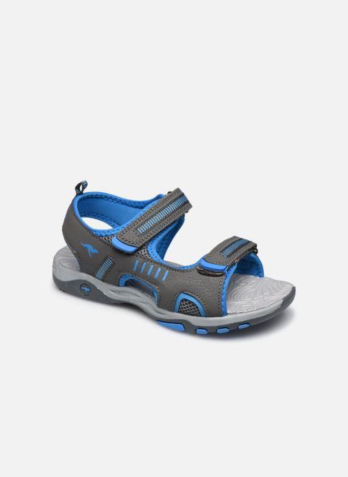Sandales et nu-pieds Kangaroos K-Logan Gris vue détail/paire