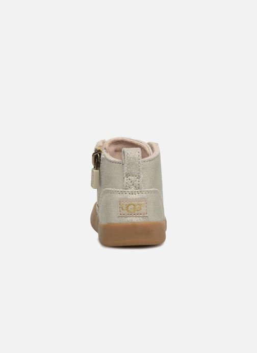 Ankle boots UGG Kristjan Metallic K Bronze and Gold view from the right