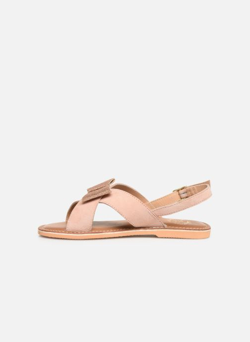 Sandalias Colors of California Bio Fashion Sandal Nœud Beige vista de frente