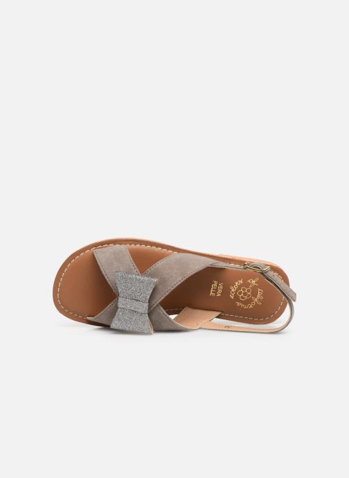 Sandalias Colors of California Bio Fashion Sandal Nœud Gris vista lateral izquierda
