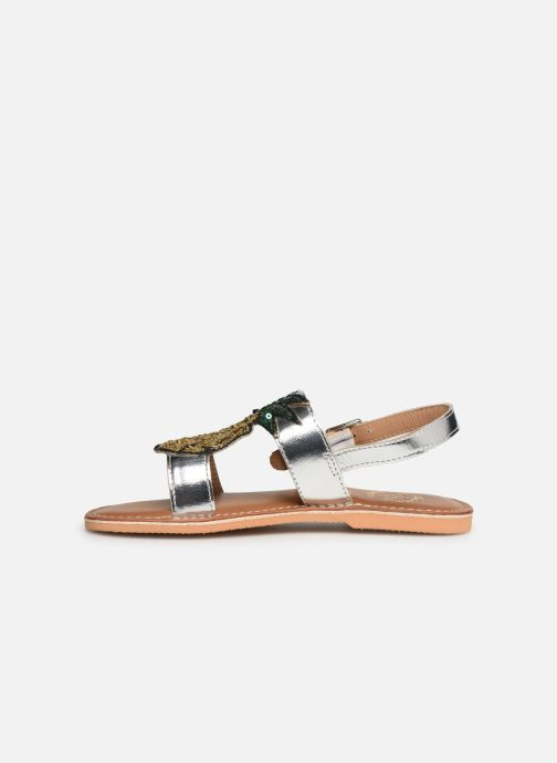 Sandales et nu-pieds Colors of California Leather Sandal With Ananas Accessorize Argent vue face