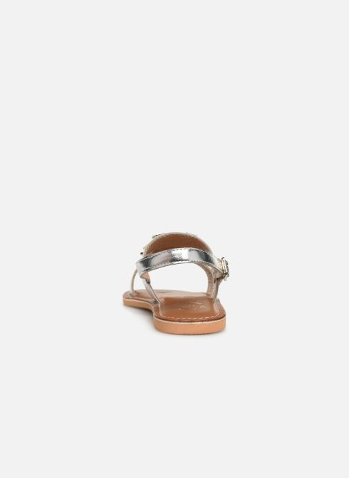 Sandales et nu-pieds Colors of California Leather Sandal With Ananas Accessorize Argent vue droite
