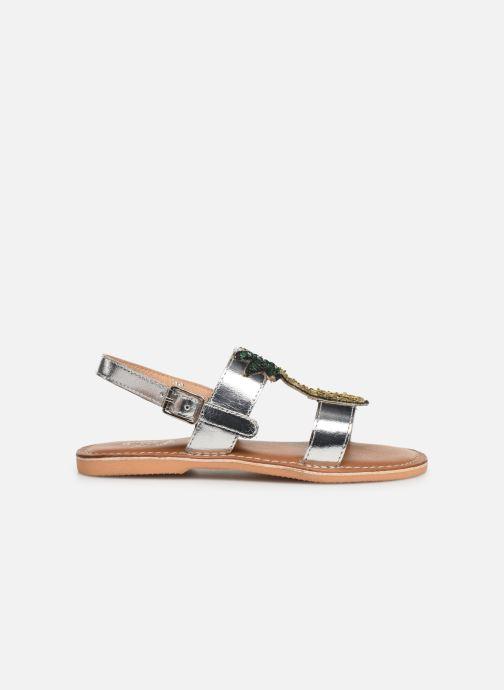 Sandales et nu-pieds Colors of California Leather Sandal With Ananas Accessorize Argent vue derrière