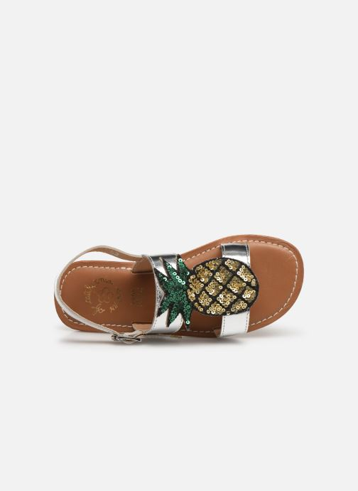 Sandali e scarpe aperte Colors of California Leather Sandal With Ananas Accessorize Argento immagine sinistra