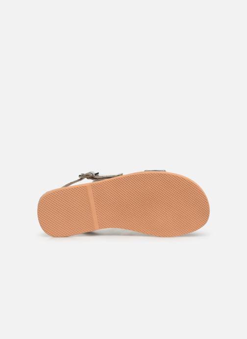 Sandales et nu-pieds Colors of California Leather Sandal With Ananas Accessorize Argent vue haut