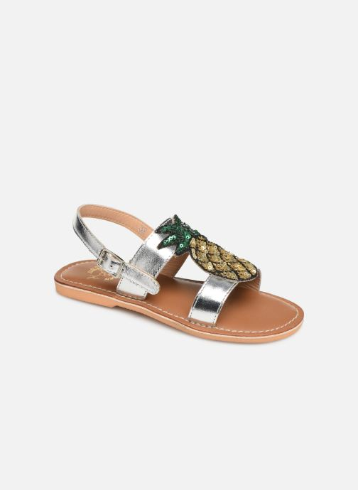 Sandalen Colors of California Leather Sandal With Ananas Accessorize Zilver detail