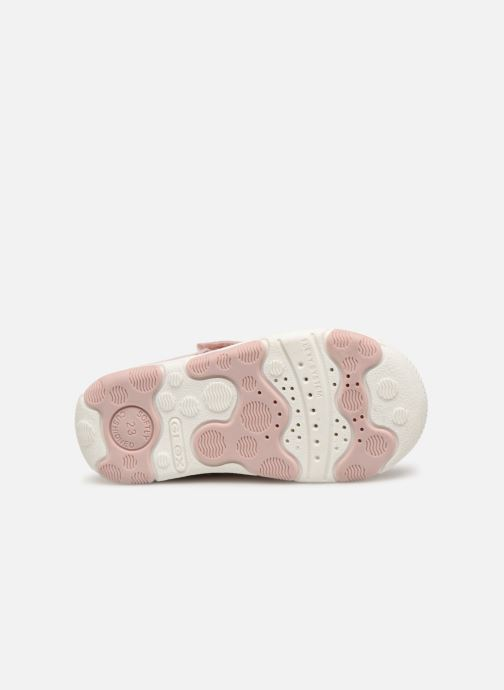 Ballerines Geox B New Balu' Girl B820QA Rose vue haut