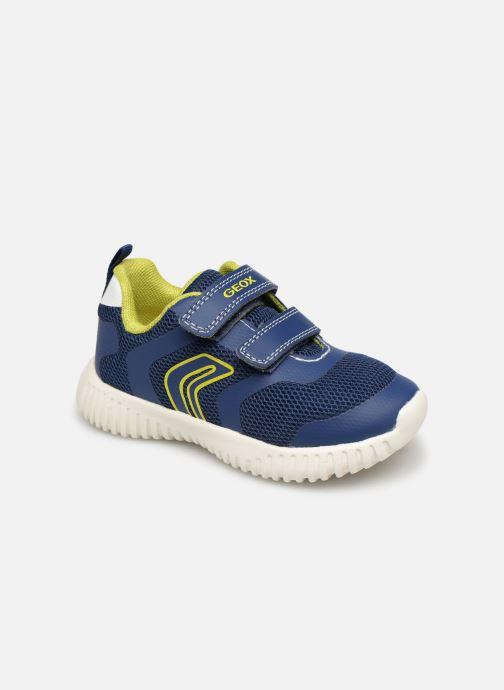 Sneakers Geox B Waviness Boy B922BA Blå detaljeret billede af skoene