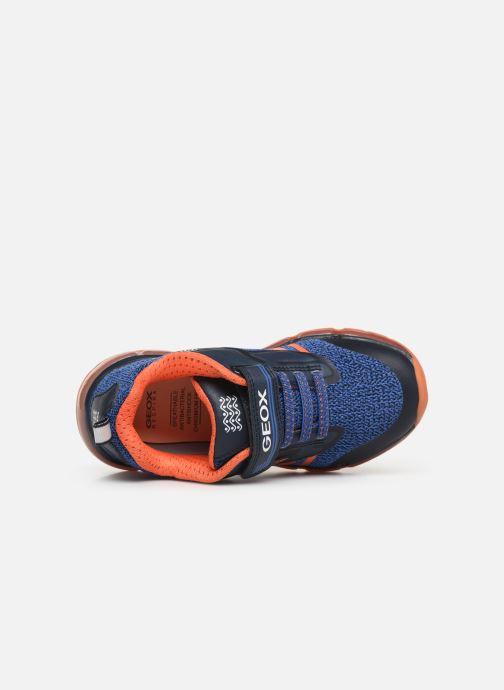 Baskets Geox J Android Boy J9244A Bleu vue gauche