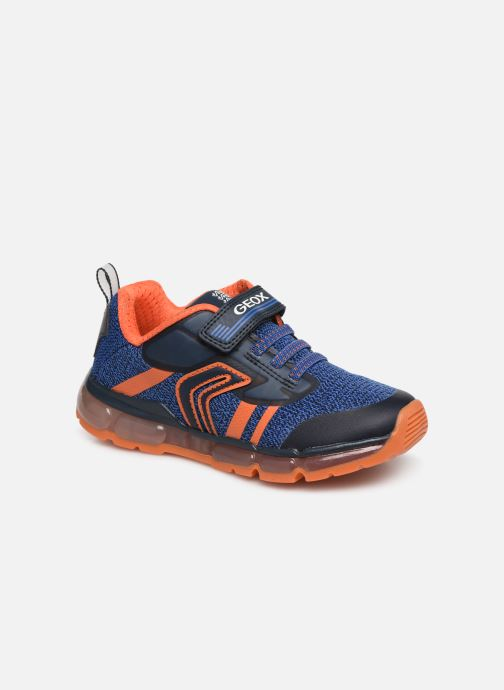 Trainers Geox J Android Boy J9244A Blue detailed view/ Pair view