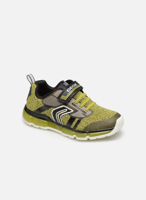 Trainers Geox J Android Boy J9244A Green detailed view/ Pair view