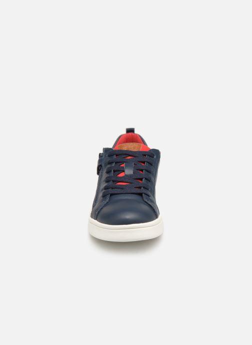 Baskets Geox J Djrock Boy J925VD Bleu vue portées chaussures
