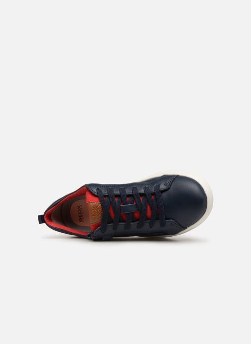 Sneakers Geox J Djrock Boy J925VD Blauw links