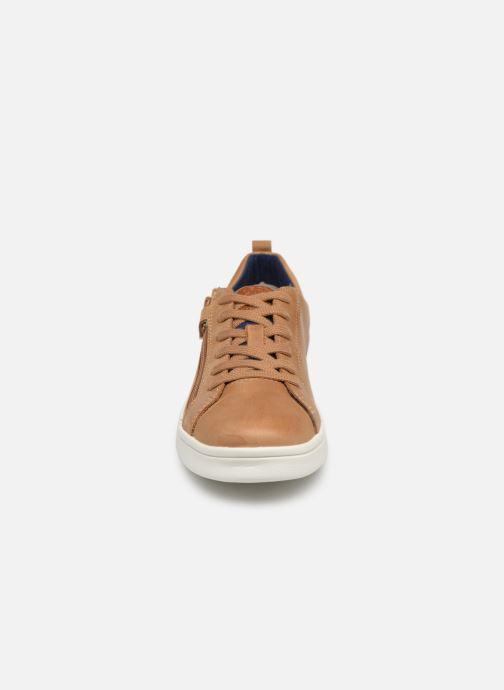 Baskets Geox J Djrock Boy J925VD Marron vue portées chaussures