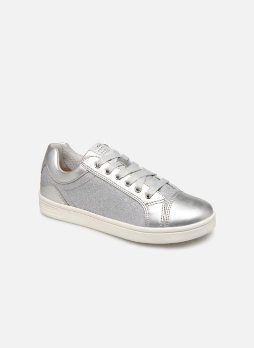 Sneakers Geox J Djrock Girl J924MC Zilver detail