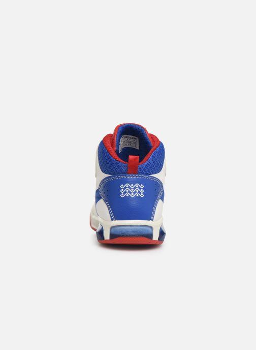 Geox J Inek Boy Mid J929CA (Blanc) Baskets chez Sarenza