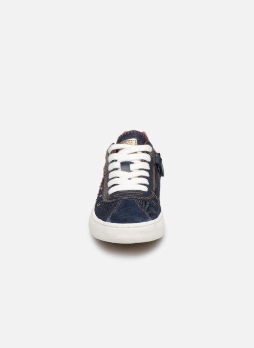 Baskets Geox J Kilwi Girl J92D5A Bleu vue portées chaussures