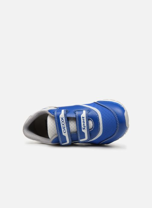 Trainers Geox J Pavel J9215A Blue view from the left
