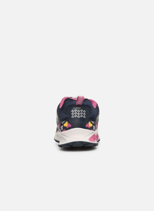 Sneakers Geox J Shuttle Girl J8206D Blå Se fra højre